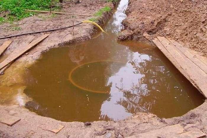 Септик затопило на участке с высоким УГВ