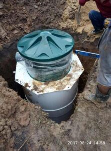 Процесс установки автономной канализации Коло Веси