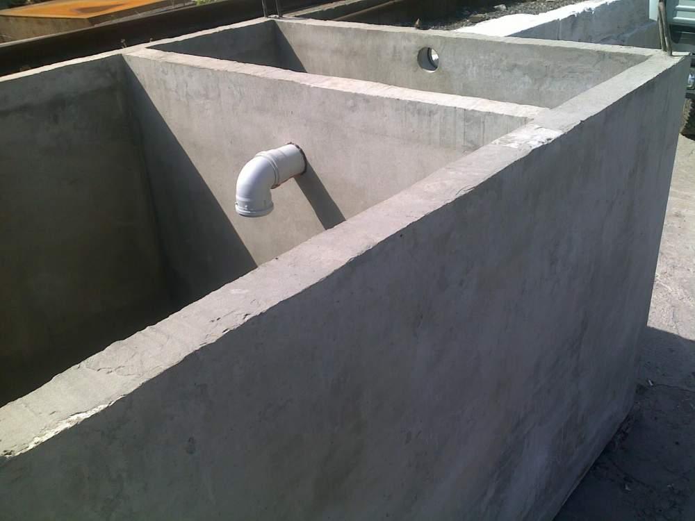 Автономная канализация из монолитного бетона