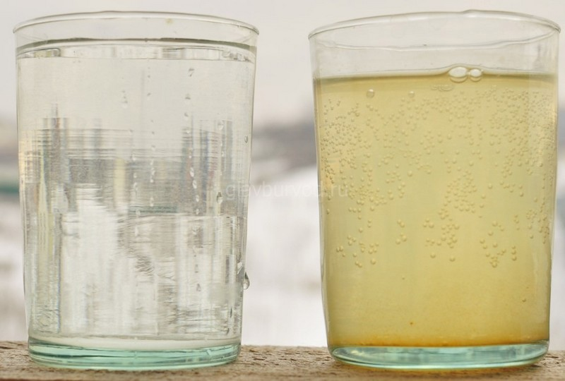 Мутная вода на выходе из септика