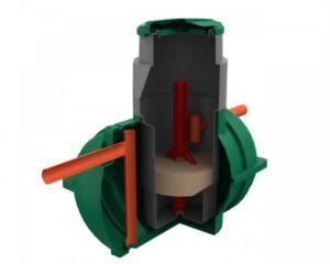 Энергонезависимые септик Росток в разрезе — конструкция