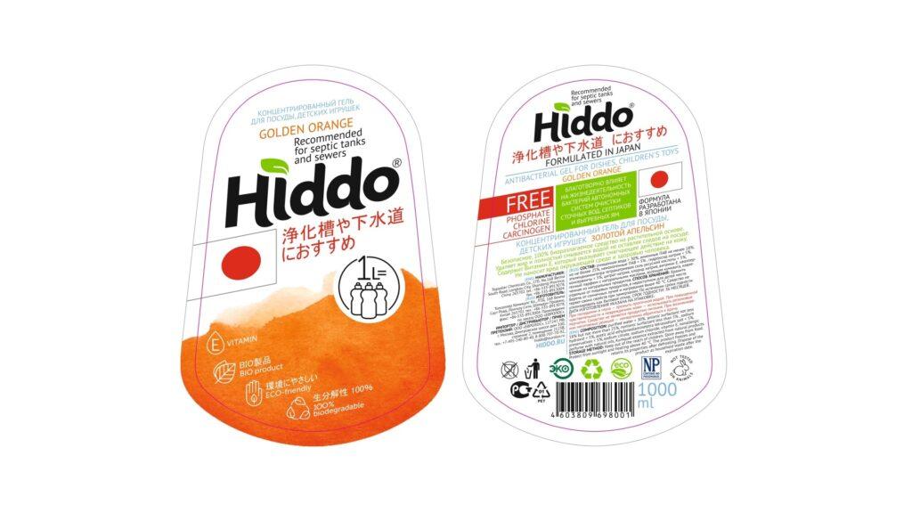 Хиддо - гель для посуды биоразлагаемый