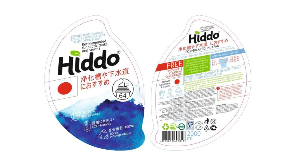 Состав геля для стирки Hiddo (Хиддо))
