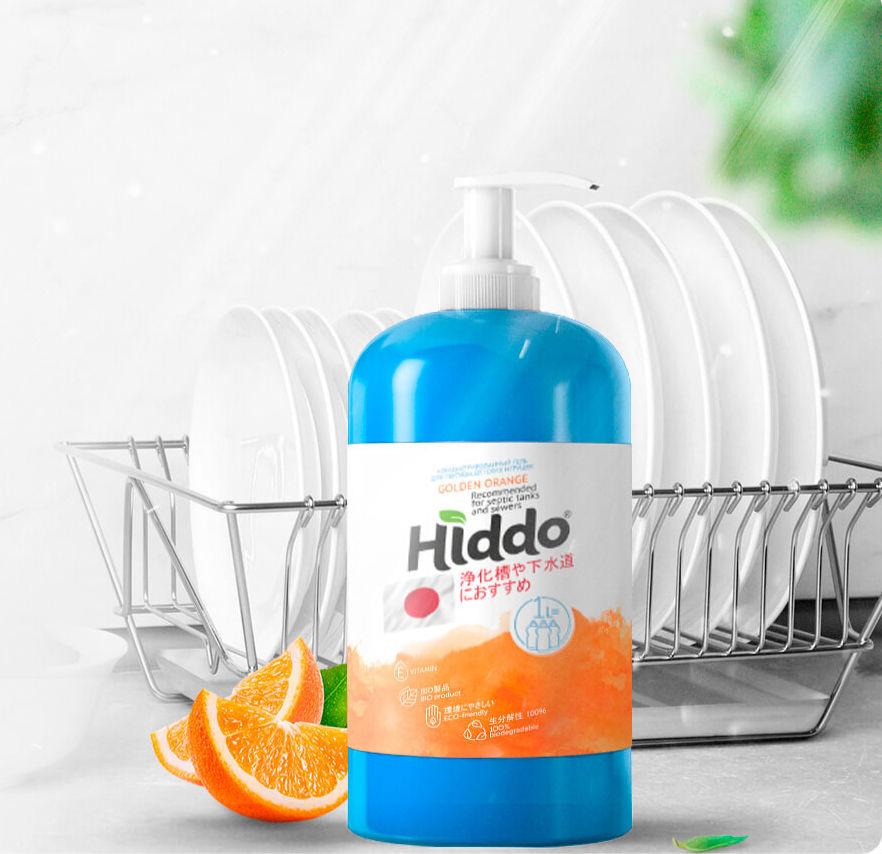 Безопасное средство для мытья посуды Hiddo