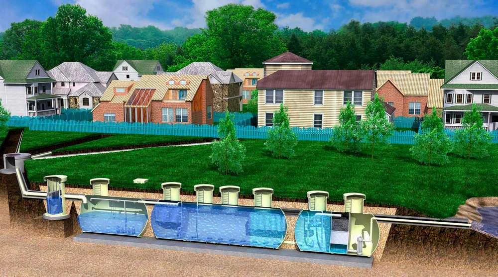Локальная канализация на несколько домов или квартал