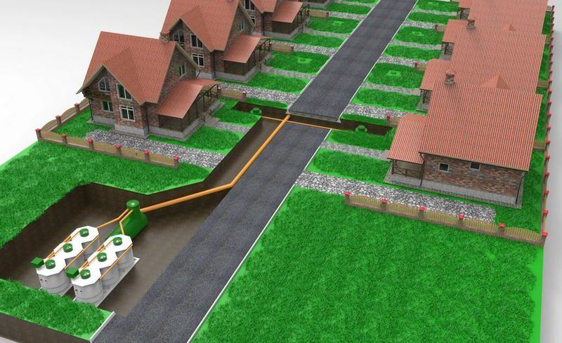 Автономная канализация для коттеджного поселка
